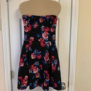 Charlotte Russe Strapless Open Back Mini Dress